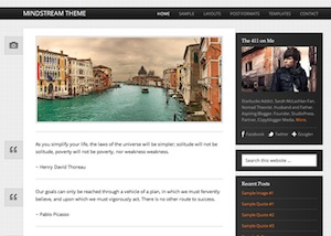 image of the mindstream theme for WordPress