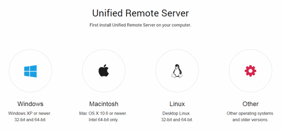 Unified server remoto