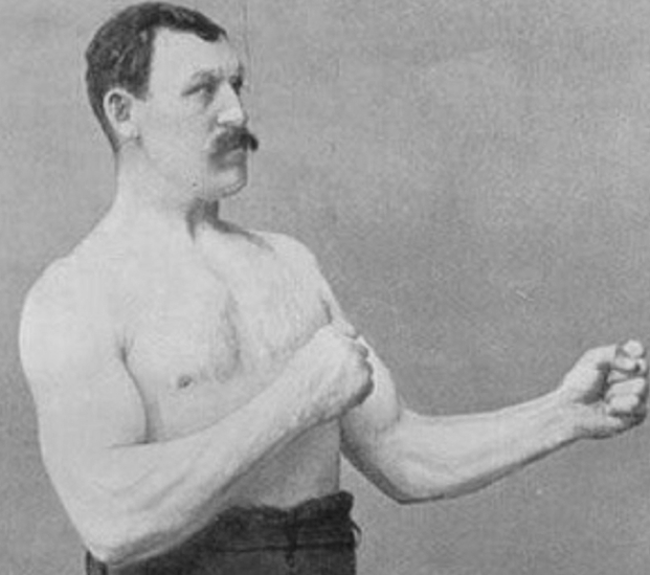 Image of Overly manly man