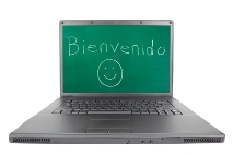 image of laptop with spanish words