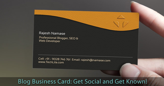 Blog Business Card