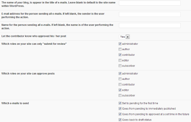 Peters Impostazioni del contribuente Collaboration e-mail