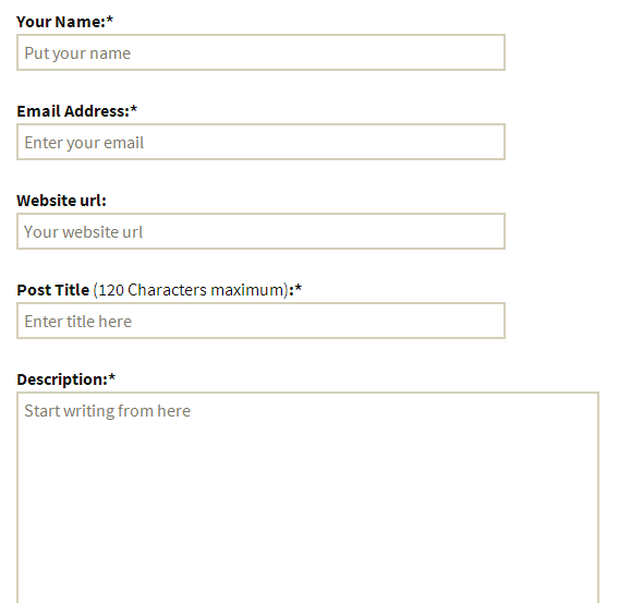 Really Simple Ospite Messaggio
