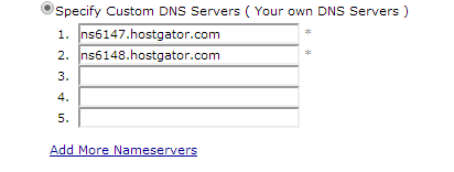 Point Nameservers