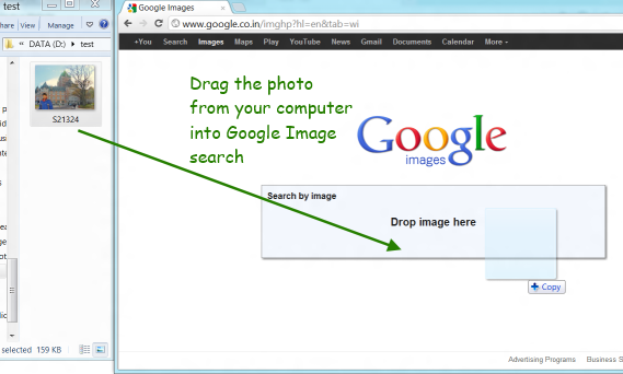 how to reverse search an image android