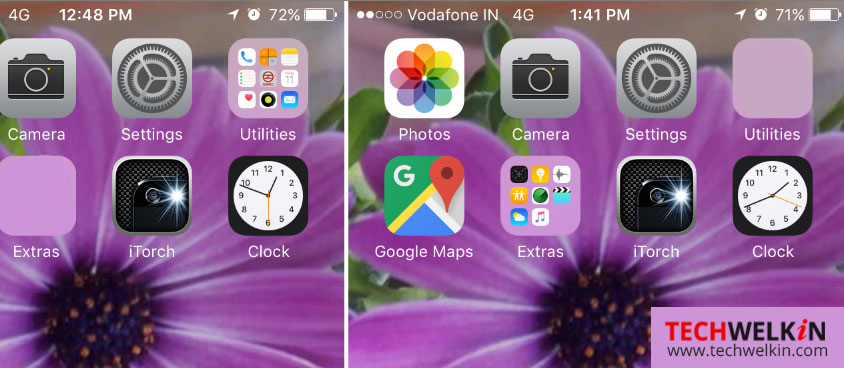 iOS LiveClock icona mostra in tempo reale.