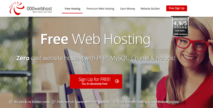 000webhost free web hosting wordpress
